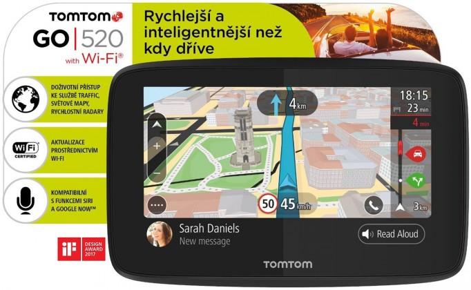"""Auto navigácia GPS Navigácia Tomtom GO 520, 5"""" doživotná aktualizácia"""