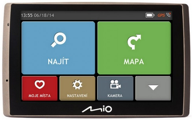 Auto navigácia MIO Combo 5107 GPS navigácia s kamerou, 5 '', LT NEKOMPLETNÉ PŘÍS