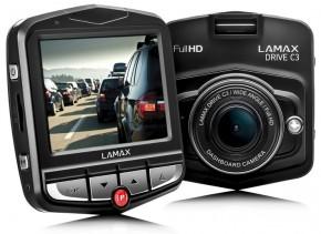 Autokamera Lamax Drive C3, FULL HD, 2 držiaky, POUŽITÉ