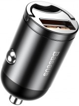 Autonabíjačka Baseus 1x USB 30W s QC 3.0, hliníkový