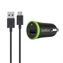 Autonabíjačka Belkin s káblom USB Typ C, čierna