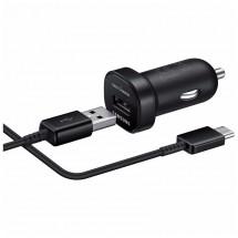Autonabíjačka Samsung 1xUSB + kábel USB Typ C, čierna