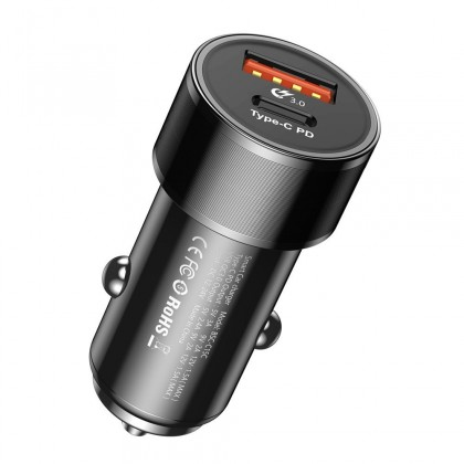Autonabíjačky (12V) Autonabíjačka Typ C, USB, 36W + kábel Typ C na Lightning 18W