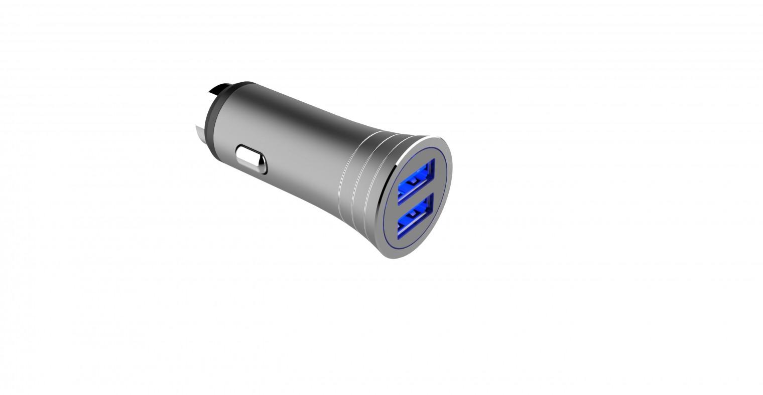 Autonabíjačky (12V) Autonabíjačka WG 2xUSB 3,1A + kábel USB Typ C