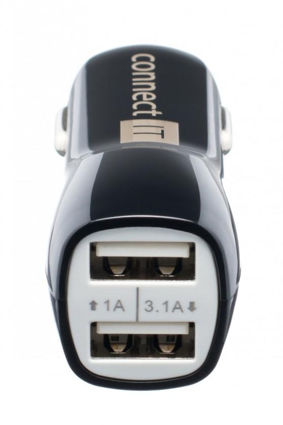 Autonabíjačky (12V) Connect IT PREMIUM auto adaptér 2xUSB 3.1A a 1A