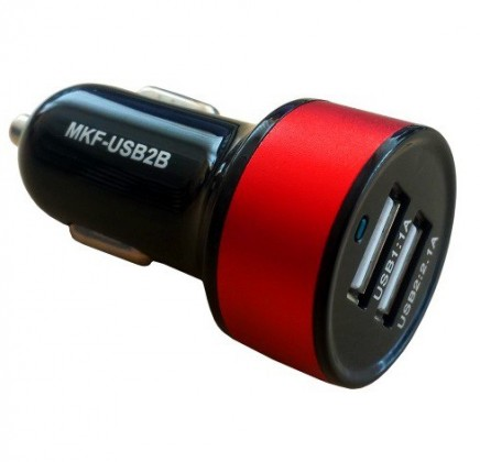 Autonabíjačky (12V) Micro USB do auta s 2 USB slotmi MKF-USB2B