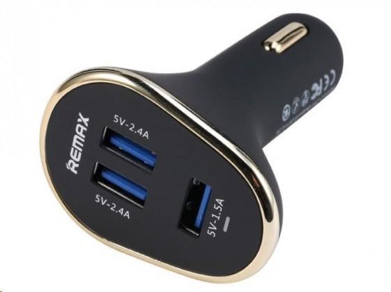 Autonabíjačky (12V) REMAX auto adaptér do zapalovače 6,3 A,3x USB výstup (AA-1052)