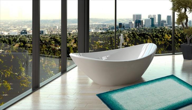 Avalon - Kúpeľňová predložka 60x100 cm (tyrkysová-čierna)