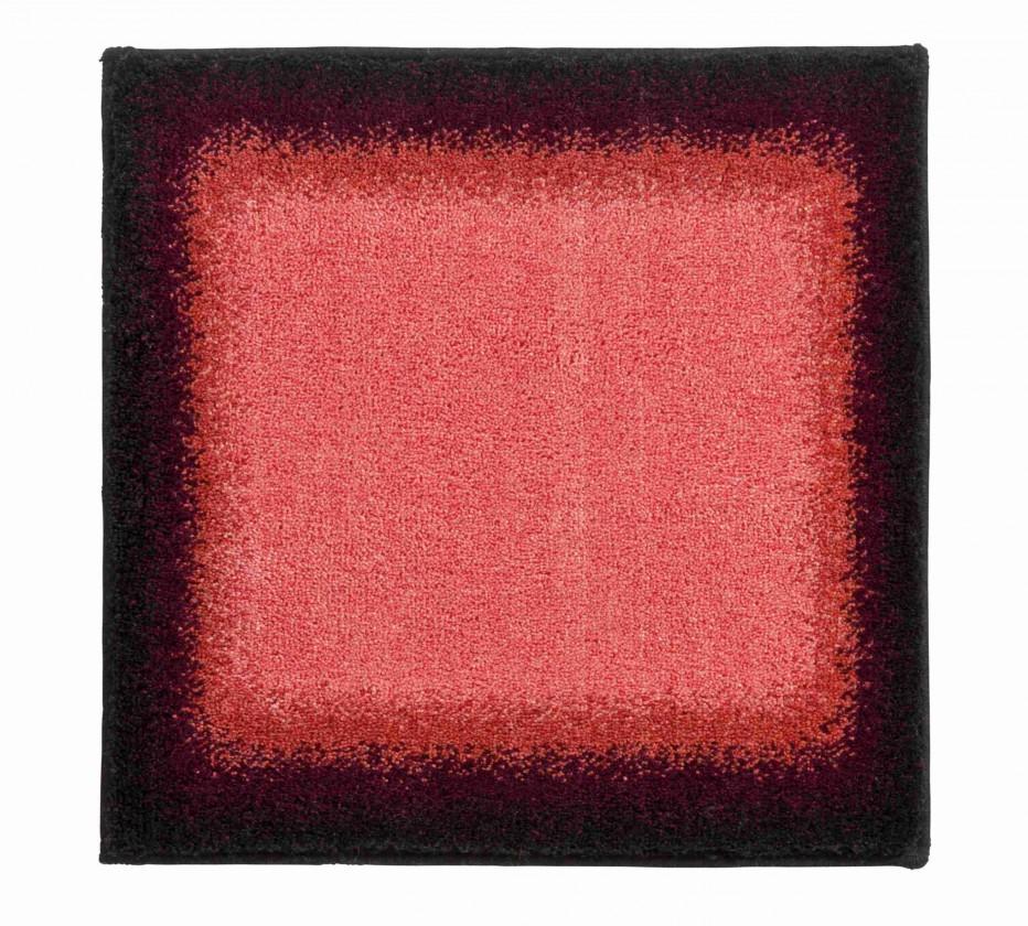 Avalon - Kúpeľňová predložka malá 50x60 cm (jahodová-čierna)