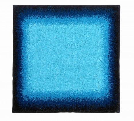 Avalon - Kúpeľňová predložka malá 50x60 cm (ľadovo modrá-čierna)