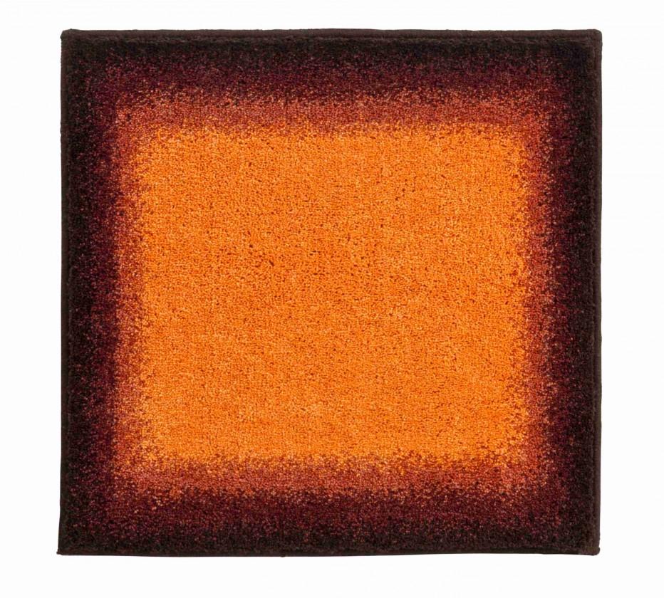 Avalon - Kúpeľňová predložka malá 50x60 cm (oranžová-čierna)