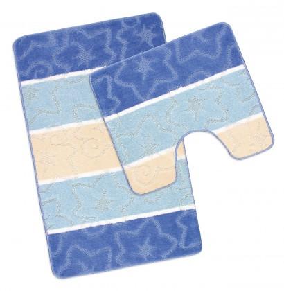 Avangard - Kúpeľňová sada 50x80 + 50x40 (modrý orion)