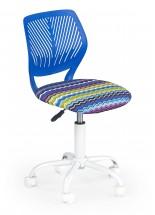 BALI - dětská stolička, vlnky modrá, regulacia výšky sedáku