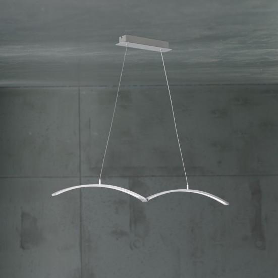 Banks - Stropné osvetlenie, LED (nikel elox)