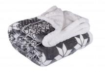 Baránková deka DB01 (150x200 cm, sivá, zima)