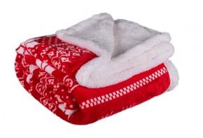 Baránková deka DB02 (150x200 cm, červená, zima)