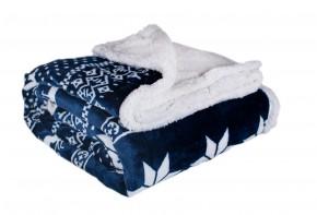 Baránková deka DB04 (150x200 cm, modrá, zima)