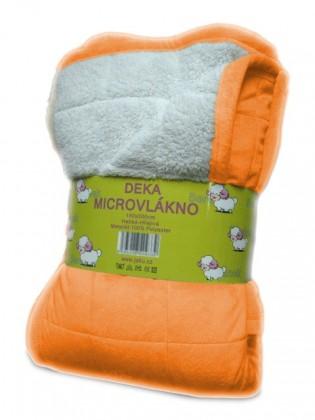 Baránok - deka micro, oranžová (100% polyester)