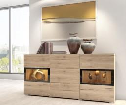 Baros - Komoda, 3 zásuvky, 2 dvierka
