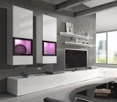 Baros - Obývacia stena, 2x vitrína, TV stolík, 2x polica