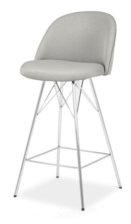 Barová stolička ALLY 9368-207+PORGY BAR 9340-091 (sv.šedá,chróm)