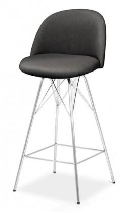 Barová stolička ALLY 9368-215+PORGY BAR 9340-091 (antracit,chróm)