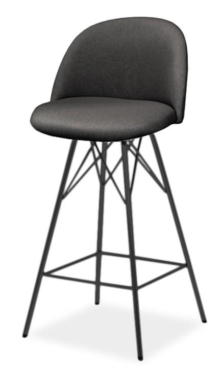 Barová stolička ALLY 9368-215+PORGY BAR 9340-824 (antracit,čierna)