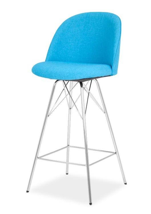 Barová stolička ALLY 9368-220+PORGY BAR 9340-091 (tyrkys,chróm)