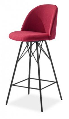 Barová stolička ALLY 9368-228+PORGY BAR 9340-824 (červená,čierna)