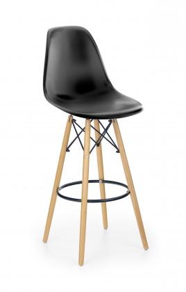 Barová stolička Barová stolička Gabri (plast, kov, drevo, čierna)