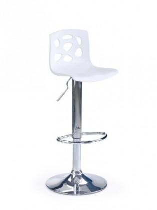 Barová stolička Barová stolička H-48 (biela,chrom)