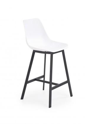 Barová stolička Barová stolička Isa (plast, kov, biela)