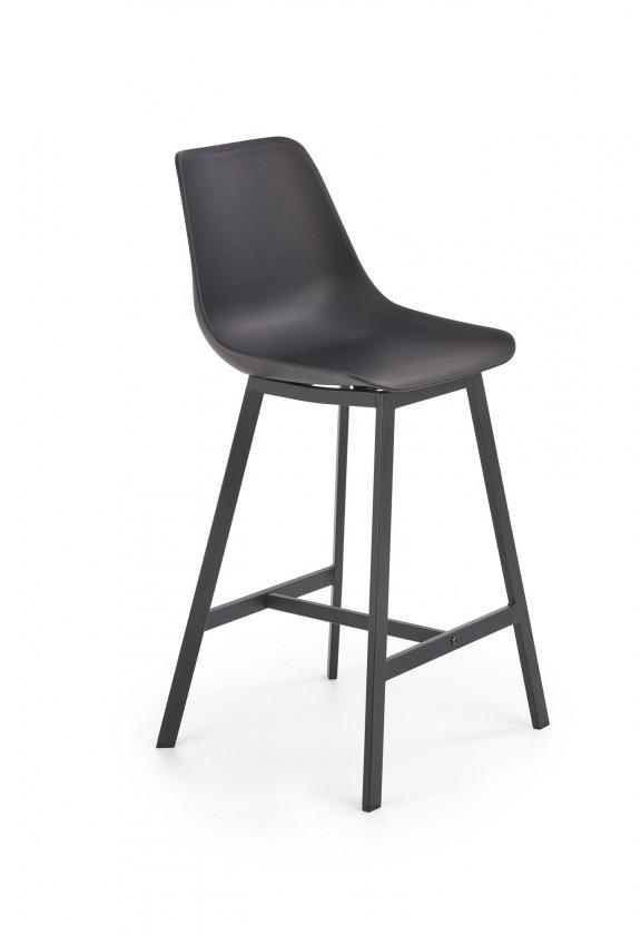 Barová stolička Barová stolička Isa (plast, kov, čierna)