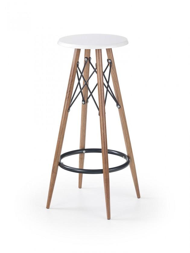 Barová stolička Barová stolička Jade (plast, kov, drevo, biela)