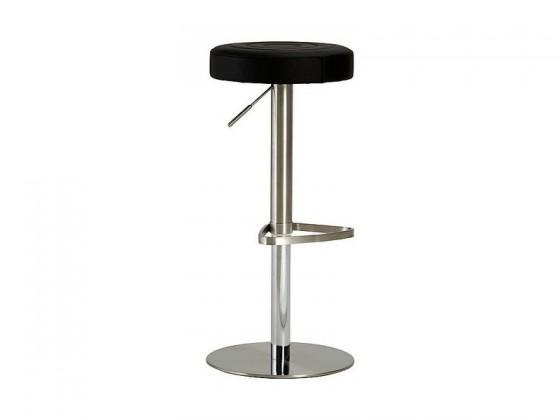 Barová stolička Chill 3 - Barová stolička (nerez, eko koža čierna)