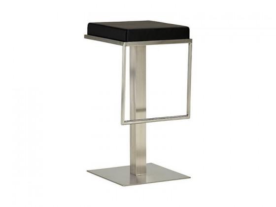 Barová stolička Chill 4 - Barová stolička (nerez, eko koža čierna)