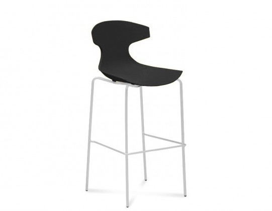 Barová stolička ECHO-Sgb(bílý lak + čierna)