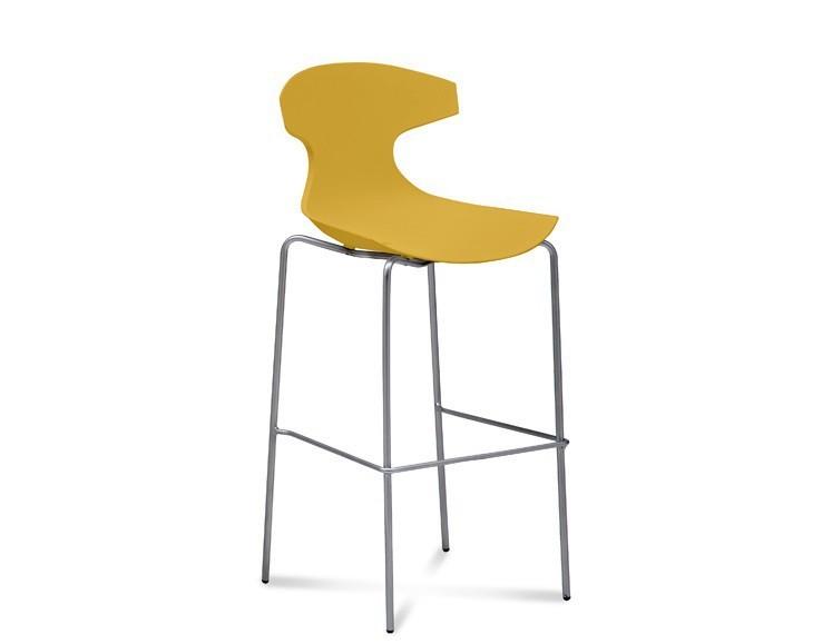 Barová stolička ECHO-Sgb(chrom + hořčicová)