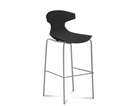 Barová stolička ECHO-Sgb(hliník + čierna)