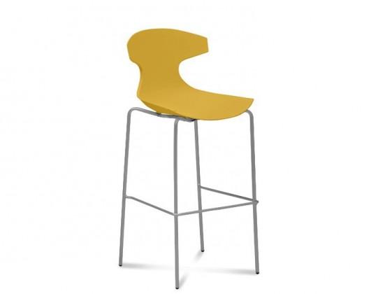 Barová stolička ECHO-Sgb(hliník + hořčicová)