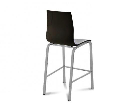 Barová stolička GEL-R-Sgb(hliník + čierna )