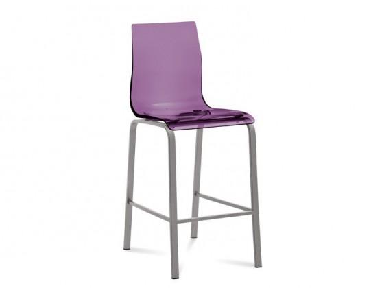 Barová stolička GEL-R-Sgb(hliník + fialová)