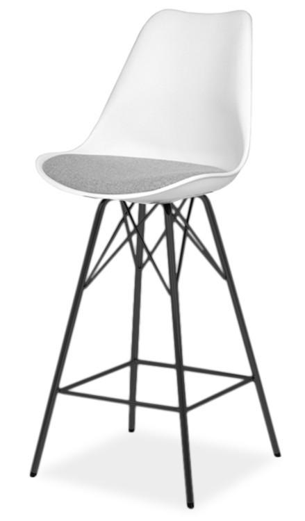 Barová stolička GINA 9361-413+PORGY BAR 9340-824 (biela,šedá,čierna)