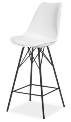 Barová stolička GINA 9361-801+PORGY BAR 9340-824 (biela,čierna)