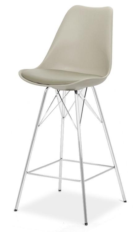 Barová stolička GINA 9361-883+PORGY BAR 9340-091 (béžová,chróm)