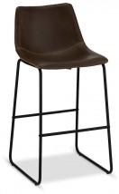 Barová stolička Guaro tmavohnedá, čierna
