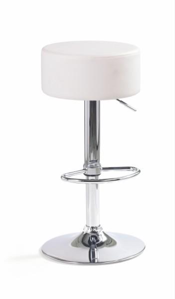 Barová stolička H-23 (eco koža biela,chrom)