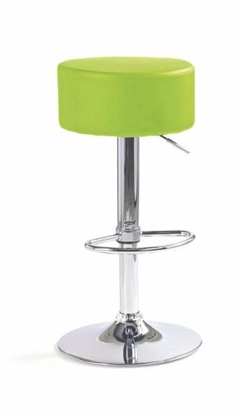 Barová stolička H-23 (eco koža limetová,chrom)