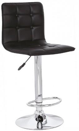 Barová stolička H-29 (eco koža čierna,chrom)
