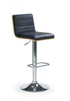 Barová stolička H-31 (orech,eco koža čierna,chrom)
